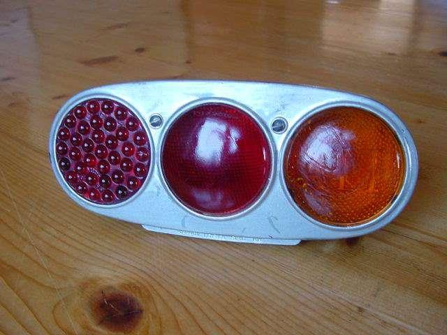 Taillight carello complete original glass lenses