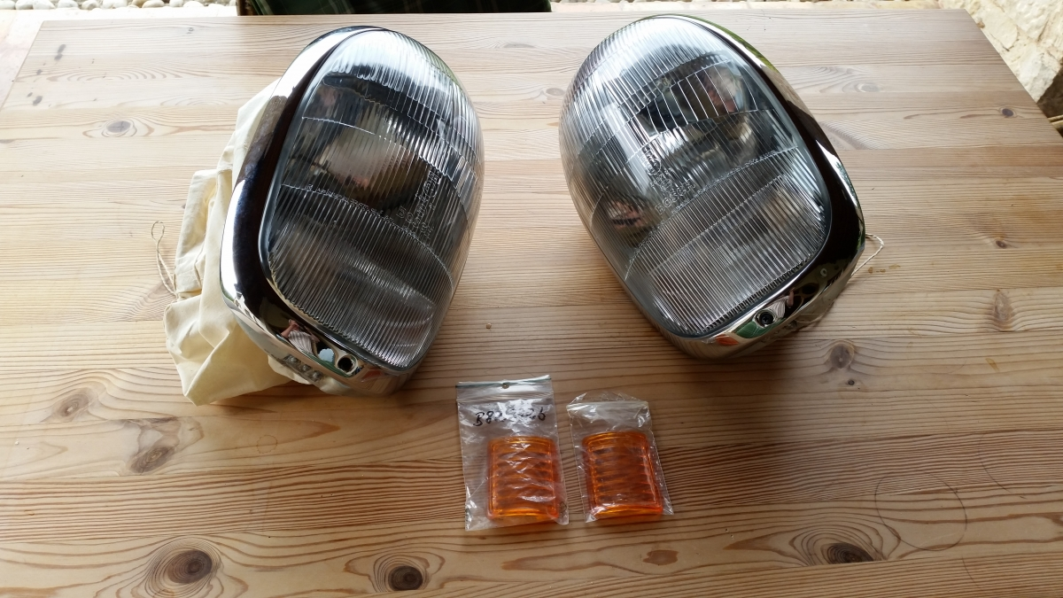 Headlights set Bosch Mercedes 300 SL roadster