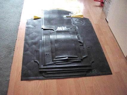 Rubber floor mat set Aurelia