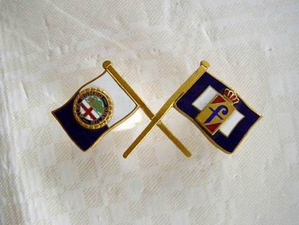 Badge Alfa Romeo Pininfarina crossed flags