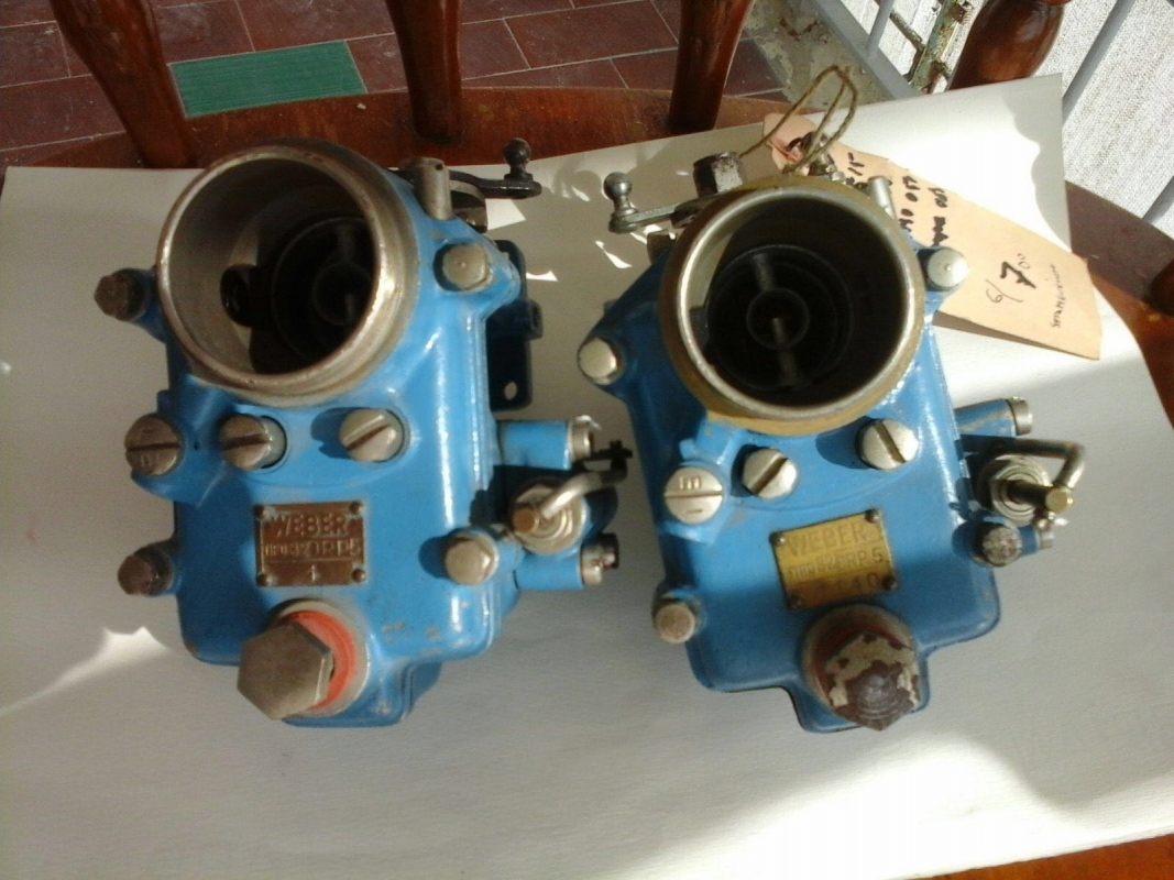Set Weber 32 DRP 5 carburettors Siata