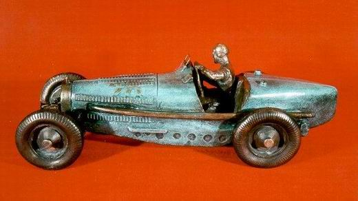 Bugatti 59 bronze sculpture