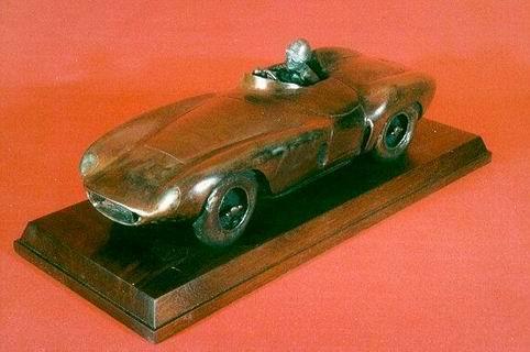 Ferrari 121 LM bronze sculpture