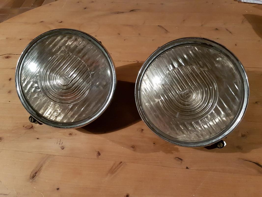 Bosch headlight set glass convex 200