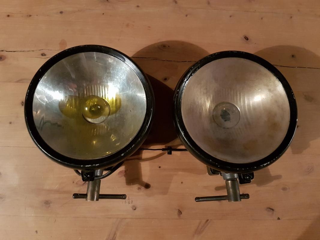 Ducellier headlight set glass flat 170