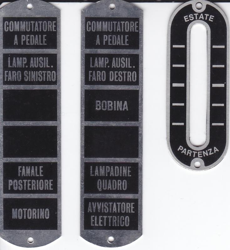 Alfa Romeo 6C 1750 fuse plates