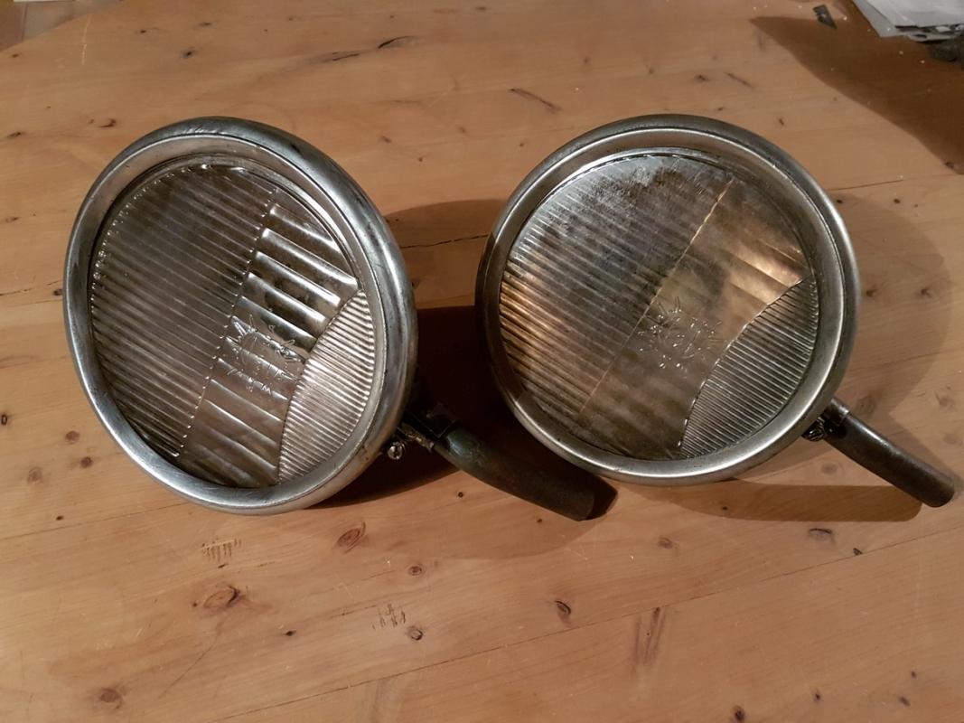 Scintilla headlight set glass 190 mm